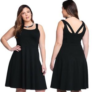 Torrid Black Strappy Pointe Tank Dress, Size 0